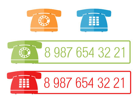 phone number: Phone icons with place for number Illustration