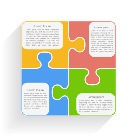box of matches: Puzzle pieces with place for text