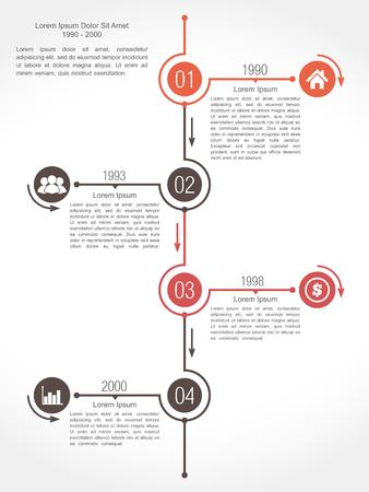 diagrama de flujo: Plantilla de diseño de la línea de tiempo