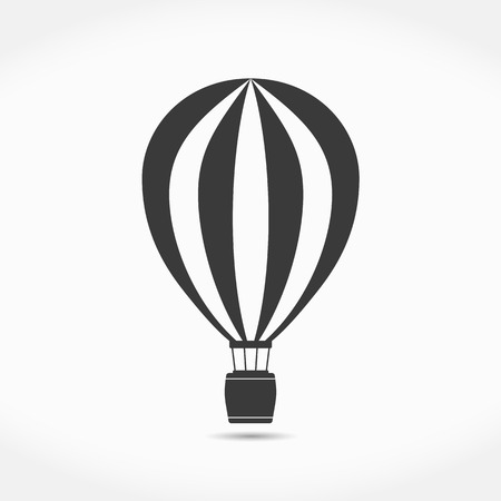aerostat: Hot air balloon simple icon