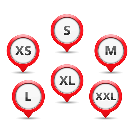 xs: Red size tags