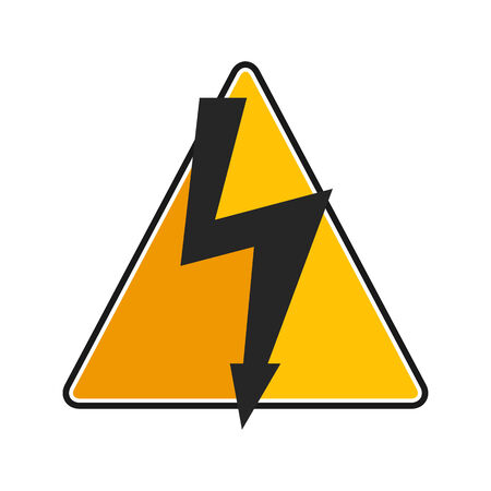 high voltage sign: High voltage sign on white background Illustration