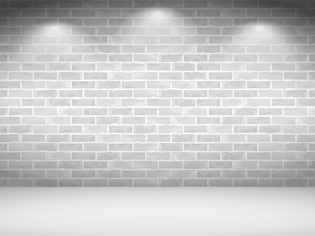 Old white brick wall Vector
