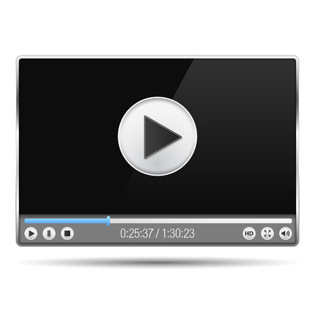 video player: Video player interface template Illustration