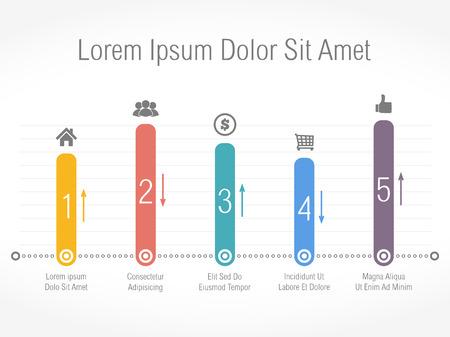 Bar chart design template Vettoriali
