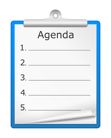 Clipboard with numbered agenda Vector