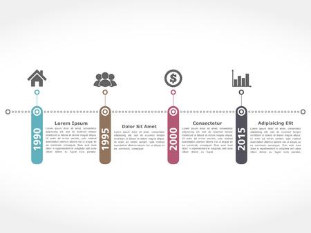 flows: Horiztonal timeline design templatetration