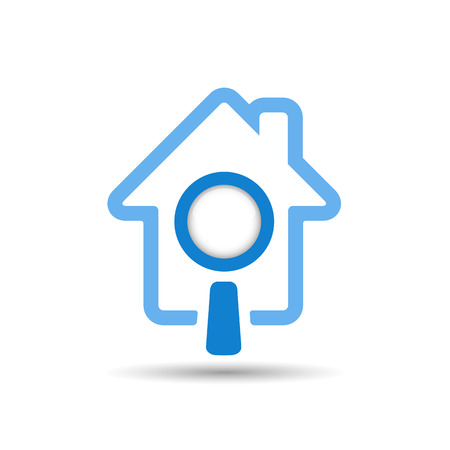 house agent: Search house icon