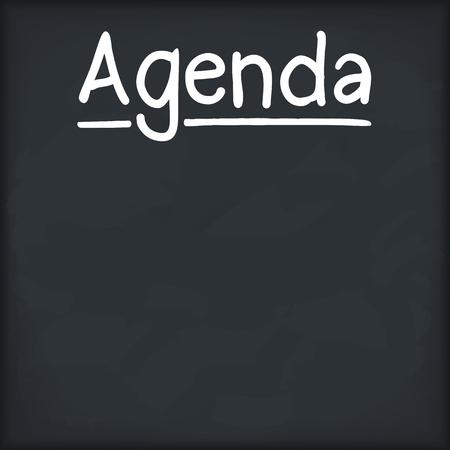 career management: Agenda written on chalkboard Illustration