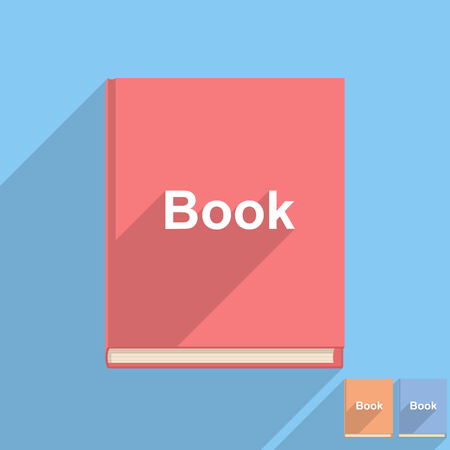 book page: Flat book icon Illustration