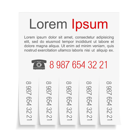 14737 Telephone Number Cliparts Vector And Royalty Free – Telephone Number Template