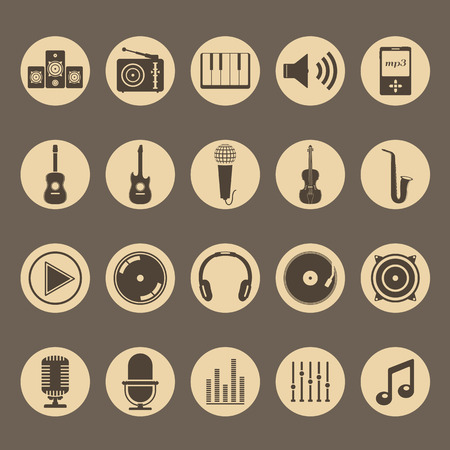 Sound and Music Icons Illustration