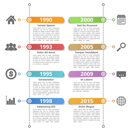 data flow: Timeline design templatre