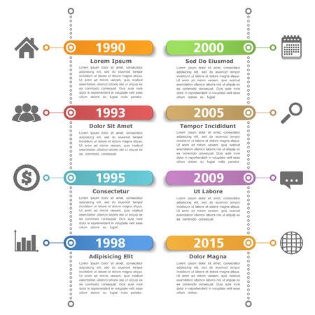 Timeline ontwerp templatre Stockfoto - 32495374