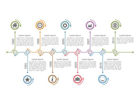 타임 라인 인포 그래픽 디자인 템플릿 일러스트