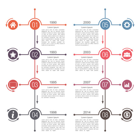 Timeline infographics template Illustration