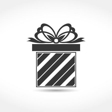 giftbox: Gift box with a bow icon Illustration