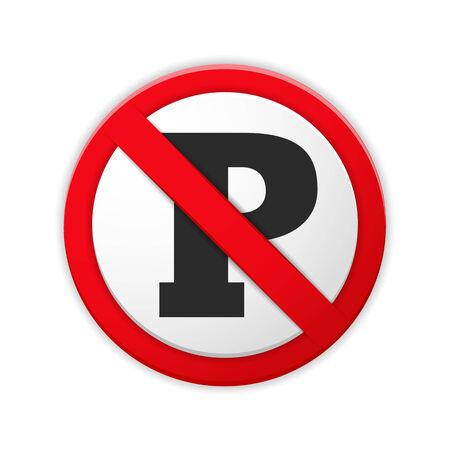 no parking: No parking sign Illustration