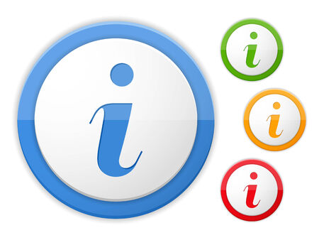 information icon: Information icon, four colors Illustration