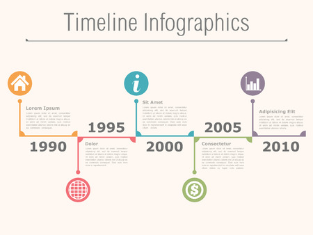 time line: Timeline infographics design template Illustration