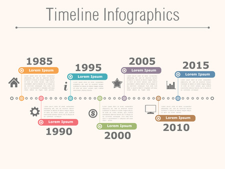 Timeline infographics design template Illustration
