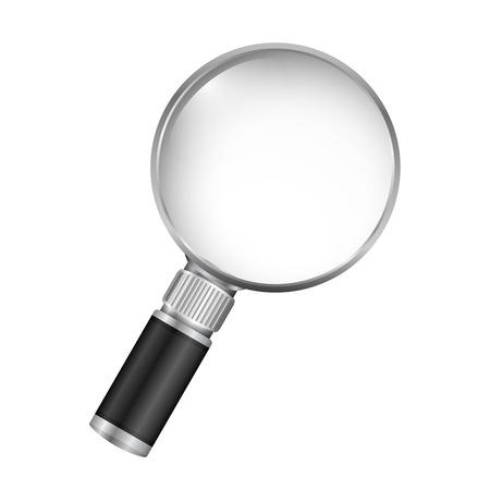 Magnifying glass on white background, vector eps10 illustration Illustration
