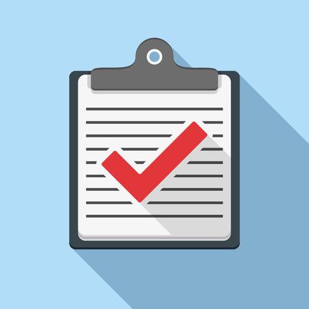 Check list icon, flat design Vector
