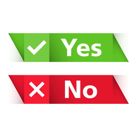 Yes and no banners Illustration