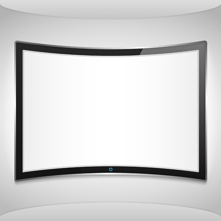 Curved screen on the wall Vector