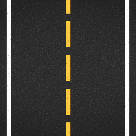 road surface: Asphalt road with markings, vector eps10 illustration