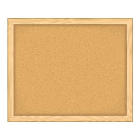 Empty bulletin board on white background, vector eps10 illustration