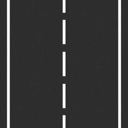 道路標示とアスファルト道路