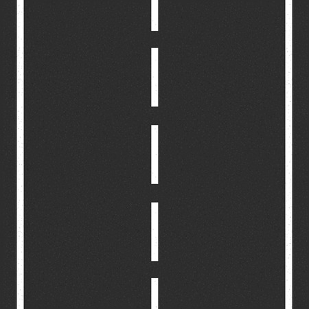 road surface: Asphalt road with road markings Illustration