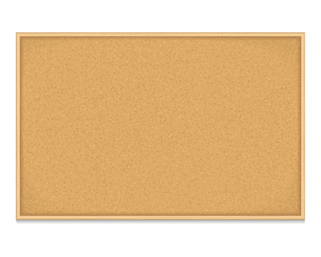 Empty bulletin board on white background
