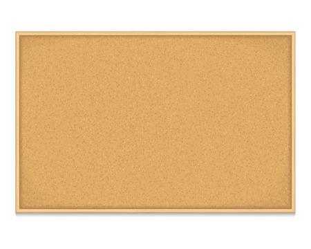 corcho: Tablón de anuncios vacío en el fondo blanco