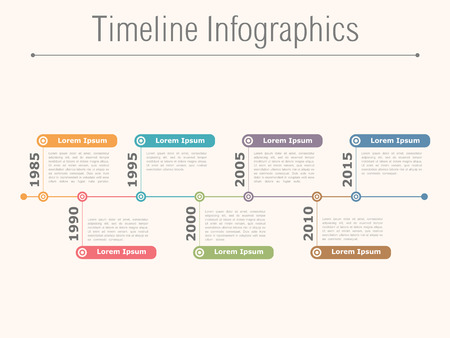 Timeline infographics design template 向量圖像