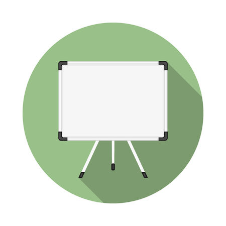 flipchart: Whiteboard icon, flat design