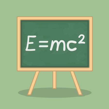 Formula of energy pn blackboard Vector
