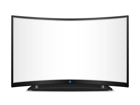 tv screen: TV with curved screen