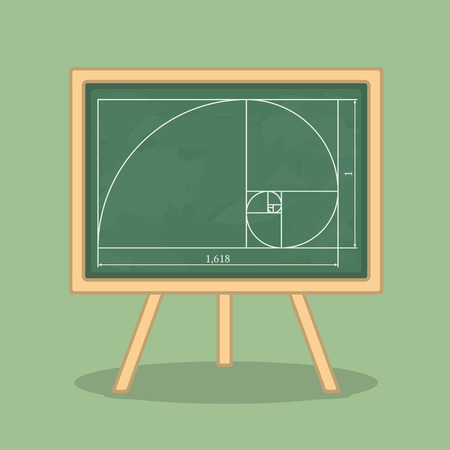 the ratio: Golden ratio on blackboard