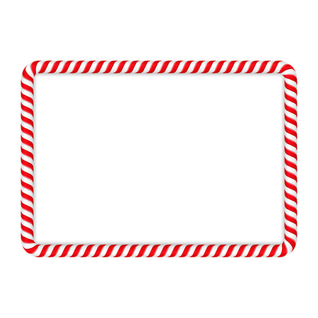 Frame made of candy cane Illustration