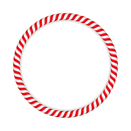 candy cane: Round frame made of candy canes