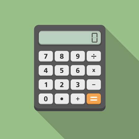 Calculator, flat design