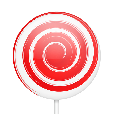 lollypop: Sweet lollipop with stick