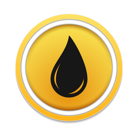 oil and gas industry: Black oil drop icon Illustration