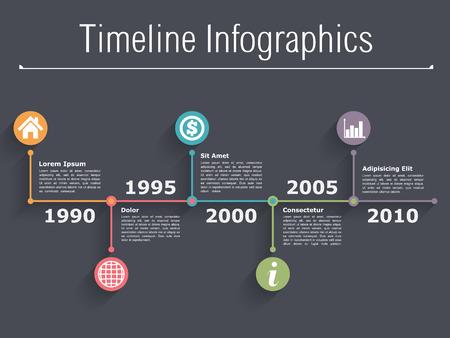 Infographies Chronologie modèle de conception Banque d'images - 35403140