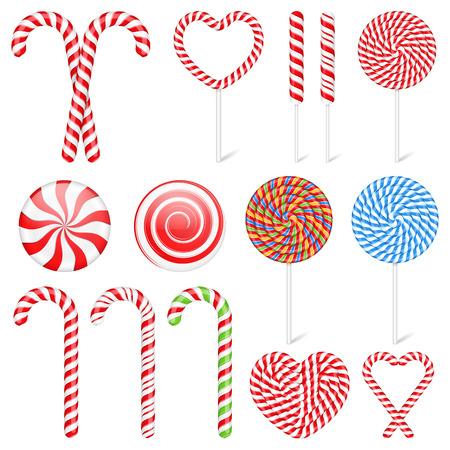 golosinas: Caramelos y chupetines Vectores