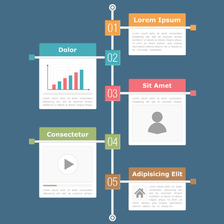agenda: Timeline infographics design template Illustration
