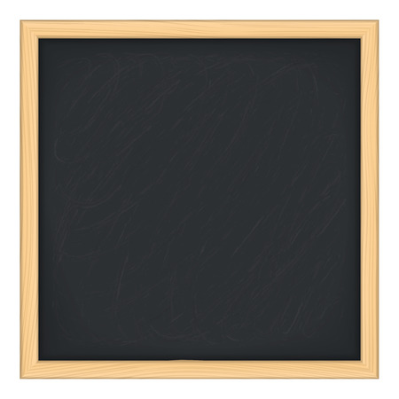 info board: Black blackboard on white background