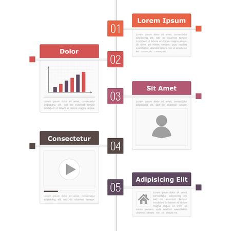 agenda: Timeline infographics design template Illustration